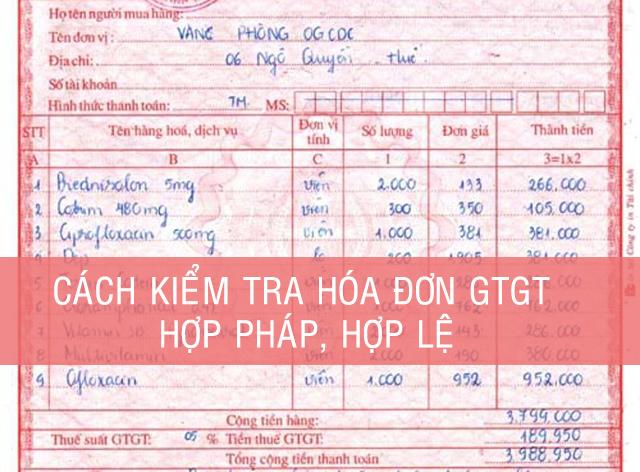 Cách kiểm tra hóa đơn đỏ, hóa đơn giá trị gia tăng hợp pháp hợp lệ